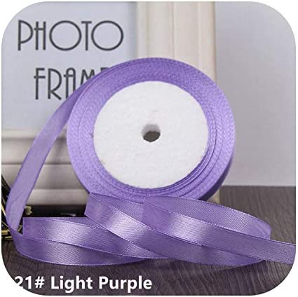 kawayi-桃 25ヤード/ロールグログランサテンリボン結婚式のクリスマスパーティーの装飾6mm-40mm DIY弓クラフトリボンカードギフト-Ligth Purple-10mm