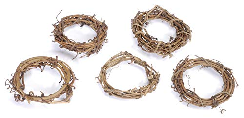 Darice GPV3 Grapevine Wreaths, 3-Inch , Pack of 12 -
