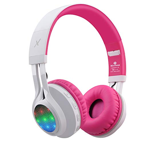 Riwbox WT-7S Bluetooth Headphones Light Up, Foldable Stero Wireless Headset with...