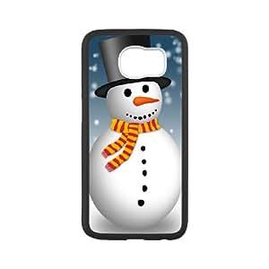 Snowman Samsung Galaxy S6 Cell Phone Case White mcxx