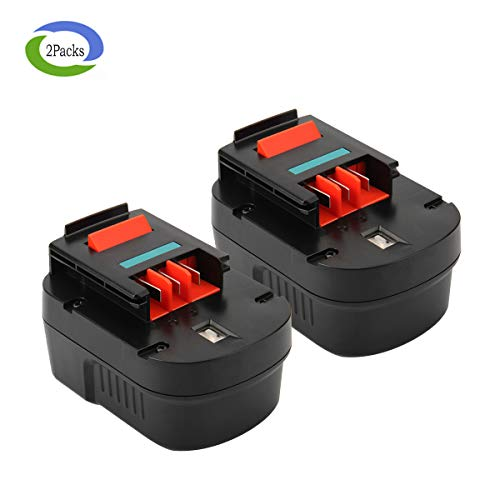 Creabest New 12V 3.0Ah Ni-MH Replacement Battery for Black & Decker 12V HPB12 FSB12 Firestorm FS120B FS120BX A1712 A12 A12-XJ A12EX Cordless Power Tool Replacement Battery(Pack of 2) by Creabest