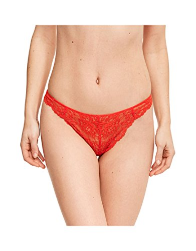 Elle Macpherson Body Womens Zest Gee Thong Size Small in Red