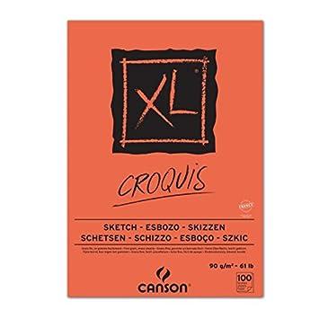 Canson-Blocco da disegno, 60 fogli bianchi, formato A2, 59,4 x 42 cm, 90 g, avorio 200787106