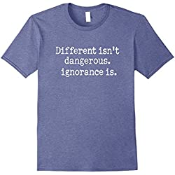 Men's Different isn't Dangerous,Ignorance is Anti Trump T-Shirt 2XL Heather Blue