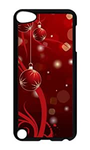 Ipod 5 Case,MOKSHOP Cool Super beautiful Christmas Balls Hard Case Protective Shell Cell Phone Cover For Ipod 5 - PC Black