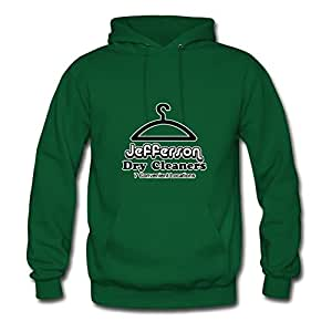 Unofficial Jefferson Dry Cleaners Sweatshirts Chic Designed Green Cotton X-large Women Personalized