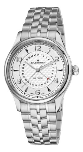 Revue Thommen Men's 10012-2132 XLarge Date Pointer Analog Display Swiss Automatic Silver Watch