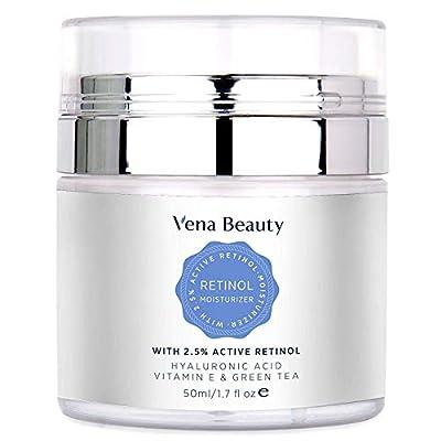 Retinol Moisturizer Cream for Face and Eye Area - with Active Retinol, Hyaluronic Acid, Vitamin E and Green Tea, Night and Day Moisturizing Cream