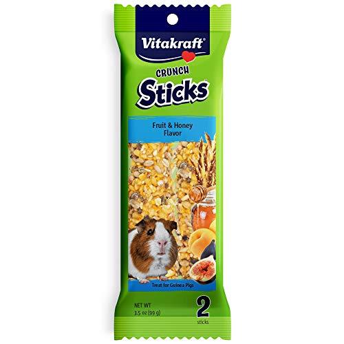 Vitakraft Guinea Pig Fruit & Honey Treat Sticks 2 Pack, 3.5 Ounce ()