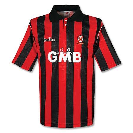 Vandanel 93 – 94 – Camiseta de fútbol Fulham Used, Hombre, Rojo/Negro