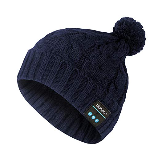 Bluetooth Beanie Hat Headphone blueear Wireless Winter Knit Hats with Stereo Speaker and MIC 8 Hours Working Time for Outdoor Sports