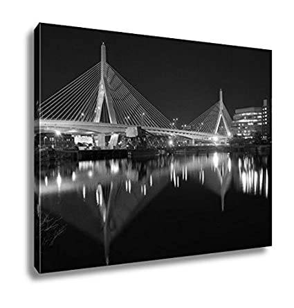 Ashley canvas boston zakim bridge sunset in bunker hill massachusetts usa wall art home decor