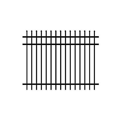 Allure Aluminum Worthington 4 ft. x 6 ft. Black Aluminum 3-Rail Unassembled Fence Panel (4-Pack)