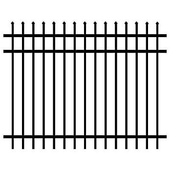 this item aluminum fence panel 3rail worthington design in black