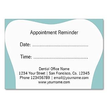 Le Rappel De Rendez Vous Dentiste Carde Carte Visite Grand Format