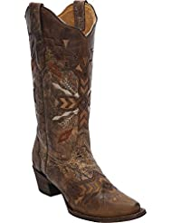 CORRAL Womens Tribal Embroidered Cowgirl Boot Snip Toe - A3045