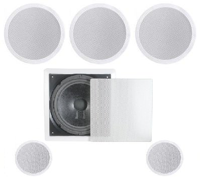 Phenomenal Amazon Com 5 1 Home Theater Flush Ceiling Speaker Package Interior Design Ideas Helimdqseriescom