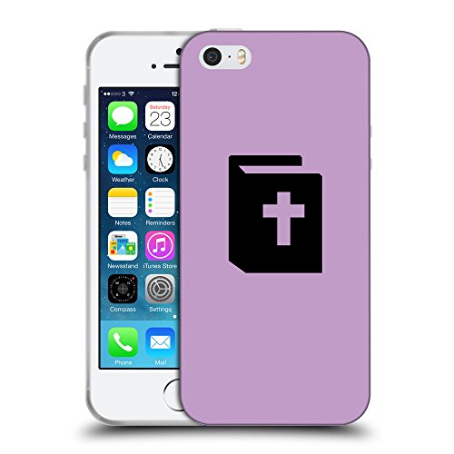 GoGoMobile Coque de Protection TPU Silicone Case pour // Q08450617 Religion 9 Bright Ube // Apple iPhone 5 5S 5G SE