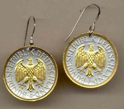 Two Tone Coin Earrings ()