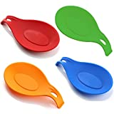 #5: iNeibo Kitchen Silicone Spoon Rest, Set of 4, (Colorful)