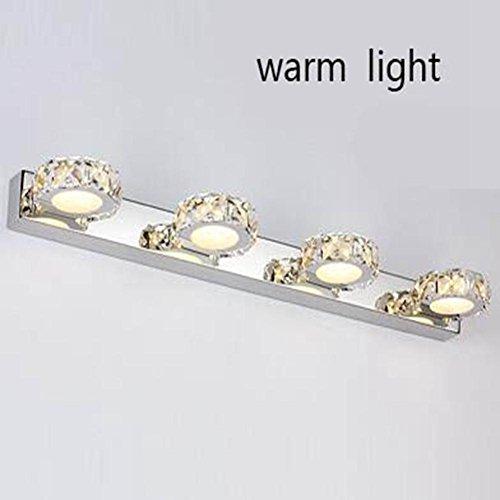 JIN Luxury Fashion LED K9 Crystal Mirror Lamp Bathroom Bedroom Bathroom Mirror Stainless Steel Lamp , D , 3 Heads by DSGVFDSG (Image #1)