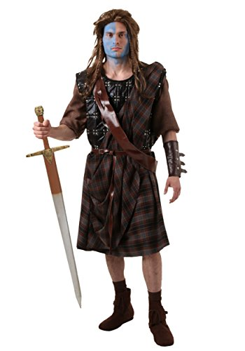 [Fun Costumes Braveheart William Wallace Costume Standard] (Braveheart Fancy Dress Costume)