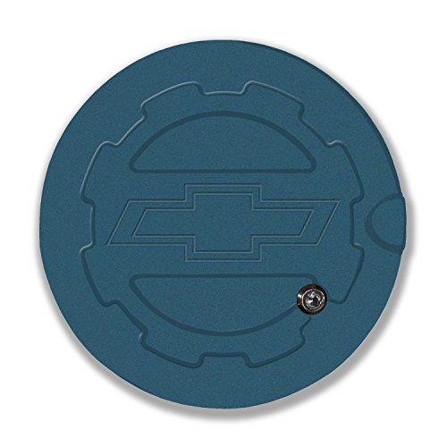 American Brother Designs ABD-1306BTG56 Blue Granite Silverado (Bowtie Logo) Locking Fuel Door