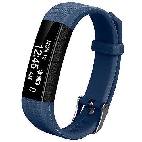 Coch Fitness Tracker, IP67 Waterproof Activity Tracker Watch,Sleep Monitor,Smart Fitness Band,Bluetooth Step Counter Kids Women Men (Blue)