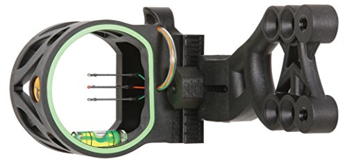 (Trophy Ridge Mist Sight with Green Hood Accent for Quicker Sight Acquisition and Reversible Mount Design for Use with Left and Right-hand Bows)