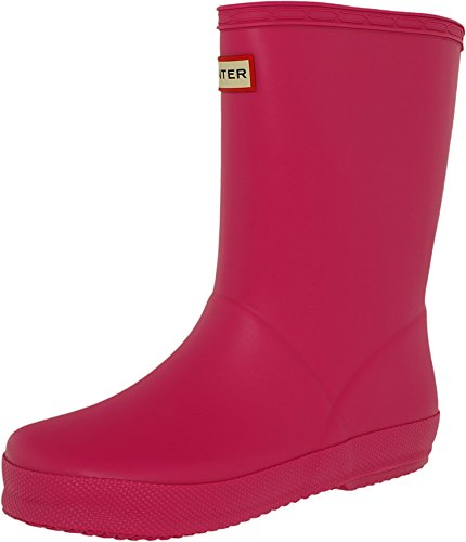 Hunter Girl's Kids First Classic Lipstick Mid-Calf Rubber Rain Boot - 12M (Wellies Hunter Kids)