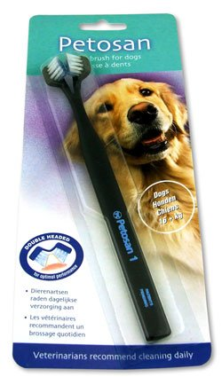 (Petosan) 1 - Double Headed Toothbrush for Dogs (16+kg) ()