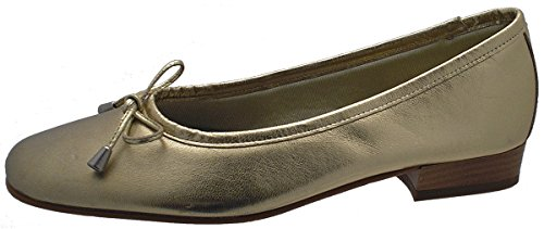 Riva Provence Leather womens Ballerina Gold Size 38.5