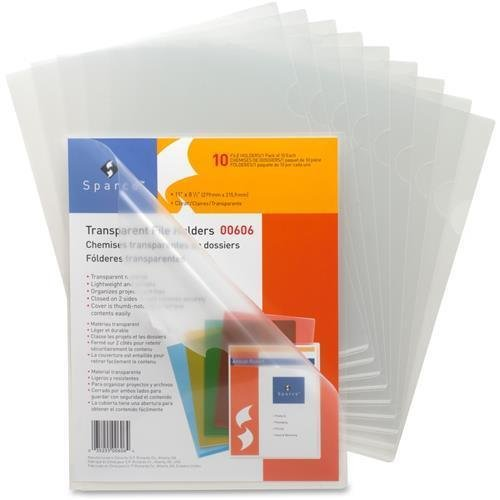 Sparco Transparent File Holder - Letter - 8.50