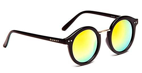826a36931b SUNXY - Gafas De Sol Con Lentes Espejo Walney Rv016, Unisex, Color Negro:  Amazon.es: Ropa y accesorios