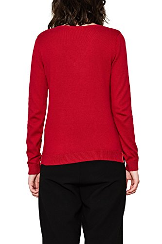 edc by Esprit, Suéter para Mujer Rojo (Dark Red 610)