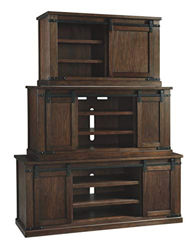 Signature Design by Ashley Budmore Large TV Stand Rustic Brown