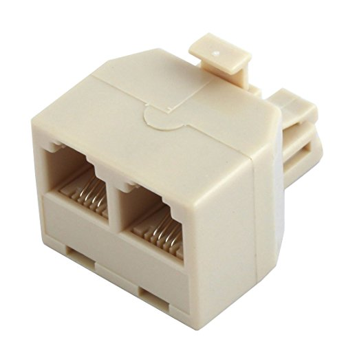 Uxcell 2-Way 6P4C RJ11 Modular Phone Telephone Wall Adapter and Splitter for Landline Telephone