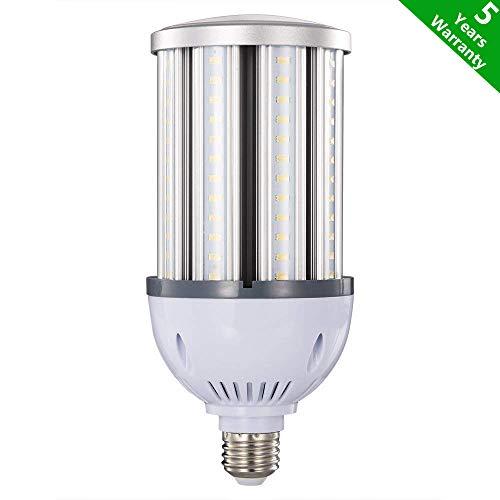 36W 38W 40W LED Corn Light Bulb,E26 Medium Screw Base,Street and Area Light,175Watt Equivalent,Metal Halide High Pressure Sodium Replacement,4300lumen,5000K Daylight,360°Flood Light,ETL Listed by RUIXU