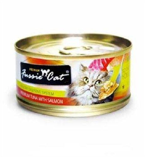 Fussie Cat Premium Tuna with Salmon Canned Cat Food – 24 – 2.82-oz. Cans, My Pet Supplies
