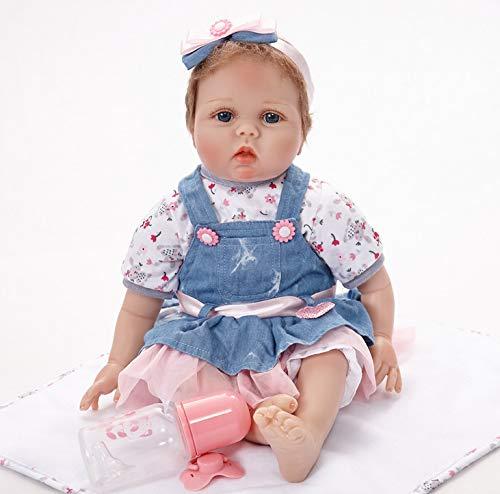 Bambole Del Bambino 55 Cm Silicone Morbido Rinato Realistico Realistico Regalo Neonato (non Può Entrare In Acqua)