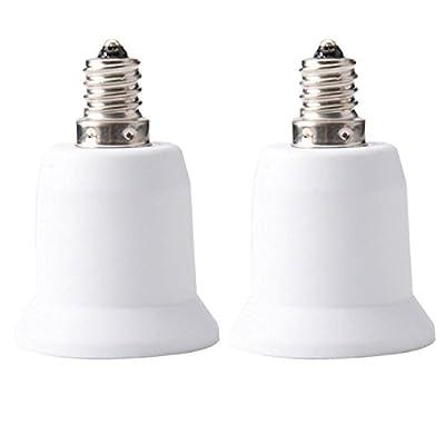 JACKYLED E12 to E26 E27 Adapter Chandelier Light Socket E12 to Medium Socket E26 E27 Converter Bulb Base Adapter Converter