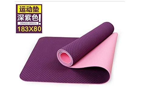 Shi18Sport TPE Zweifarbige Yogamatte Anti Reißen Anfänger Skid Verbreiterung 80Cm Yogamatte
