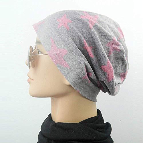 Mujer Hombre elástico Punto Rosa algodón y Amarillo Suave AiBarle de de rosa para Mujer Gorro 7vAwS