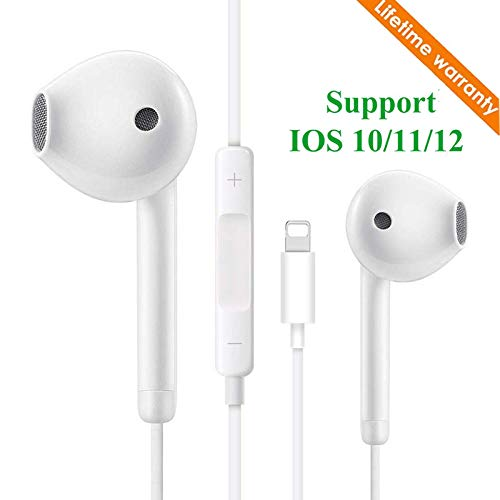 Earbuds/Earphones, Microphone Earphones Stereo Headphones Noise Isolating Headset Compatible with iPh0ne 7/7 Plus/8/8 Plus/X 10/XS/XS Max/XR/6S /6S Plus/6 Plus