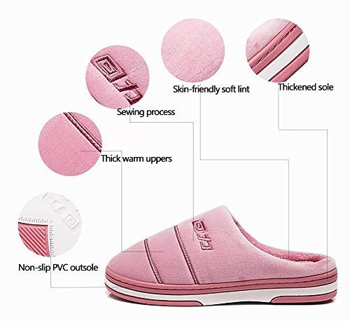 Chaud Femme Intérieur Hiver 35 Pour Pink Flip Flops Chaussons Antidérapant 34 Ménage Shangxian Chaussures Peluche Coton purple 7X8Aqqw