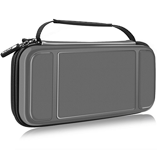 Fintie Carry Case for Nintendo Switch – Protective Hard Shell Portable Travel Bag Pouch with 10 Game Card Slots and Inner Pocket for Nintendo Switch Console Joy-Con & Accessories, Space Grey