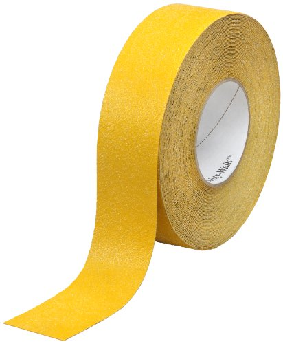 (3M Safety-Walk Slip-Resistant General Purpose Tapes and Treads 630-B, Safety Yellow, 4