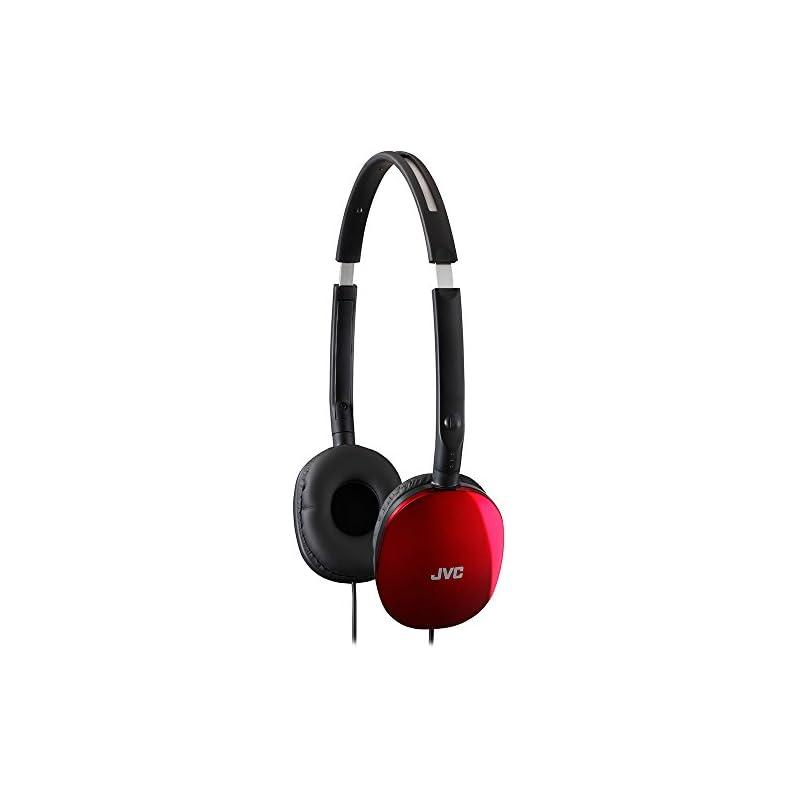 JVC Flat Headphones - Red (HAS160R)