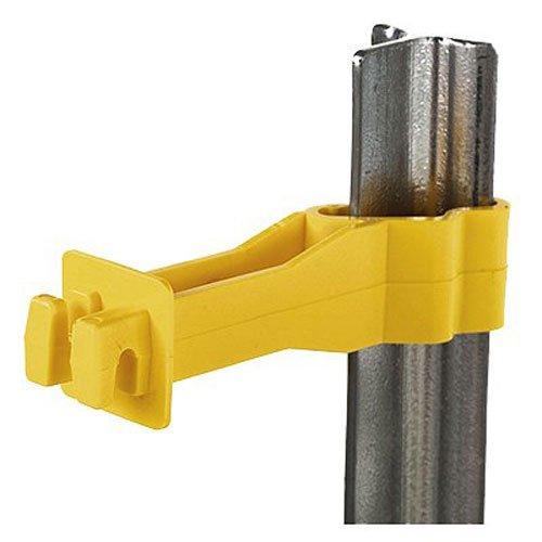 (Dare SNUG-RT-25 T Post Insulator (25 Count), Yellow)