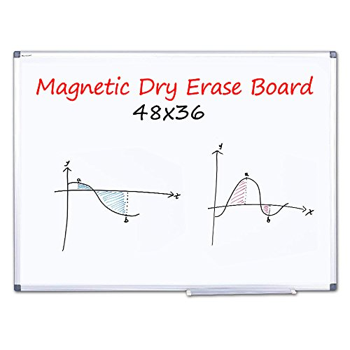 (WEYOUNG Dry Erase Board - 48x36 inches Magnetic White Board Large Dry Wipe Whiteboard On Wall Excellent for Office and Home)